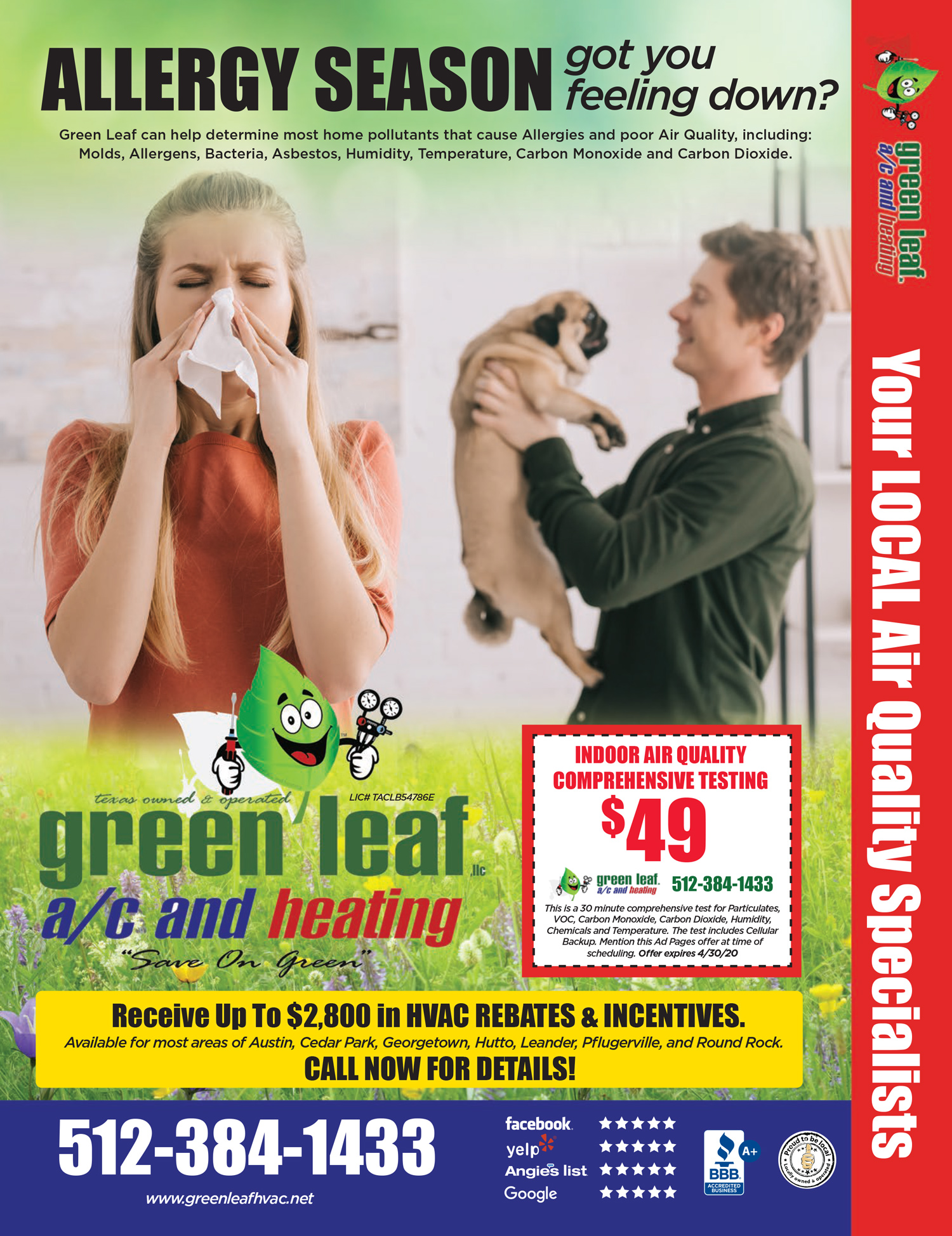 allergy season hvac discounts