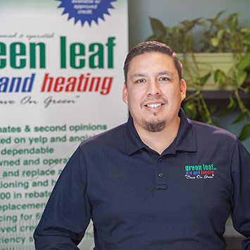 eddie hinojosa, owner greenleaf ac heating and plumbing